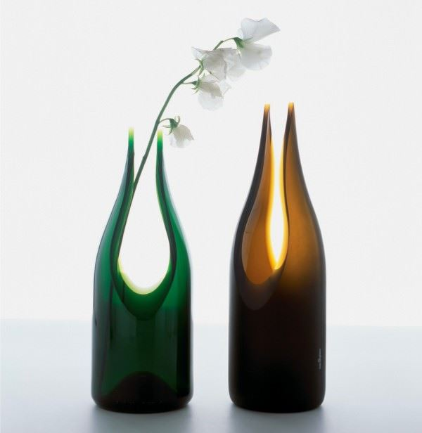 dekoratif renkli cam vazo