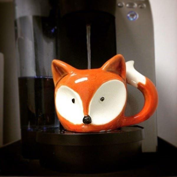 şekilli kahve kupası