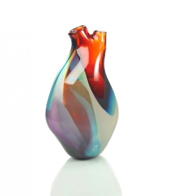vazo modelleri - kalp seklinde cam vazo - Dekoratif Modern Yeni Tasarım Vazo Modelleri