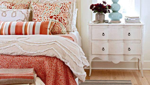 Retro Tarzı Yatak Odası Renk Kombinleri
