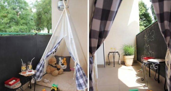 çocuklar için balkon düzeni