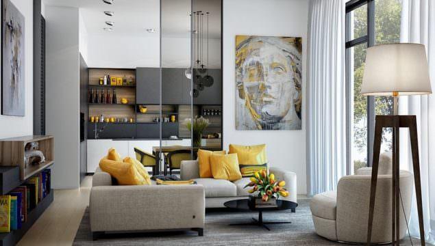 Sarı Renk Vurgulu Dekorasyon Örnekleri