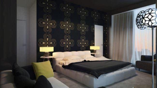 yatak odası duvarlarına dekoratif görünüm kazandırma - koyu renk yatak odasi dekorasyon 650x365 - Yatak Odası Duvarlarına Dekoratif Görünüm Kazandırma