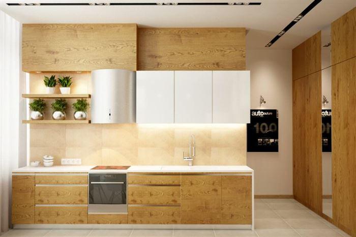 dekoratif büyük mutfak