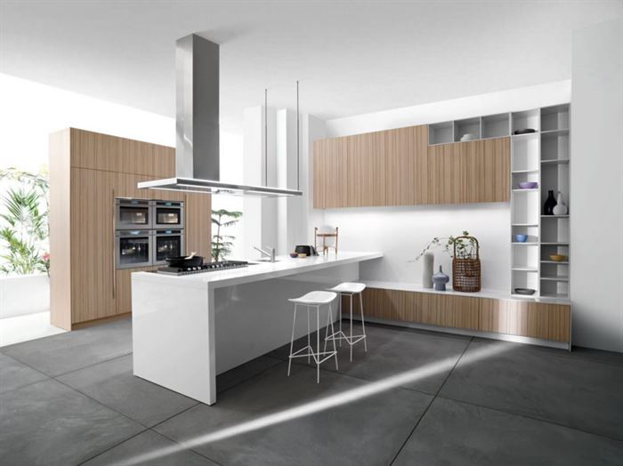 beyaz büyük mutfak modelleri