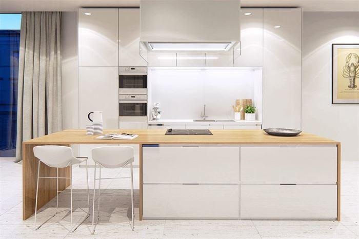 büyük beyaz mutfak dekorasyonları