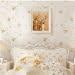 yatak odası desenli duvar kağıt