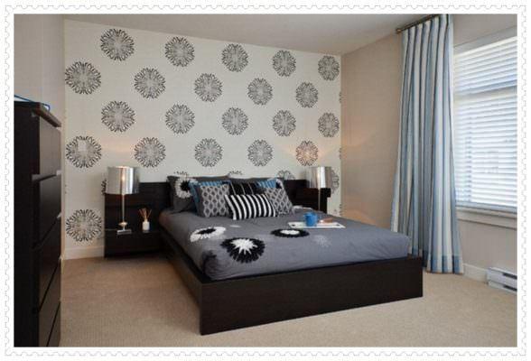 yatak odası duvarlarına dekoratif görünüm kazandırma - yatak odasi duvar dekorasyon 588x400 - Yatak Odası Duvarlarına Dekoratif Görünüm Kazandırma
