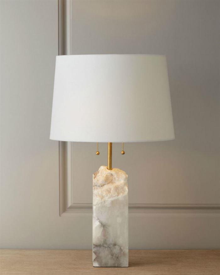 yatak odası abajur ve gece lambaları - Raw Alabaster Lamp Regina Andrew Design - Yatak Odası Abajur Ve Gece Lambaları