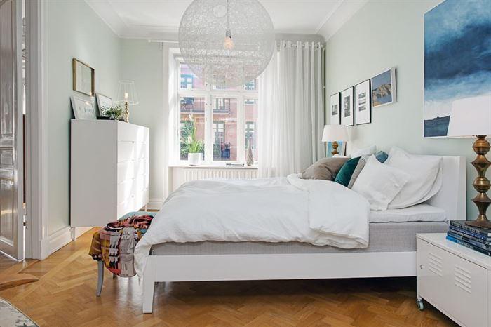 iskandinav tarzı yatak odası