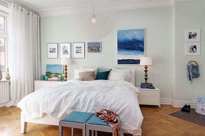 iskandinav tarzı yatak odası renkleri