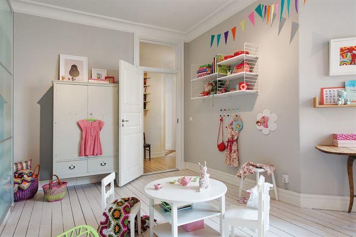 iskandinav tarzı çocuk odası