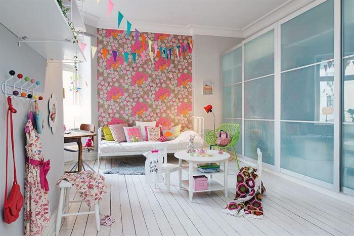 renkli çocuk odası iskandinav