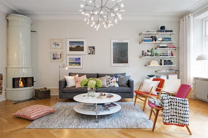 renkli İskandinav stili daire'nin ilham verici ayrıntıları - iskandinav daire dekorasyonlari 6