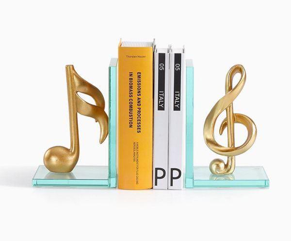 müzik temalı dekorasyon aksesuarları - kitapmuzik temali kitap tutuculari - Müzik Temalı Dekorasyon Aksesuarları