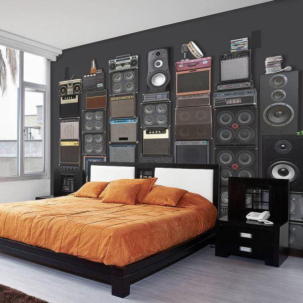müzik temalı dekorasyon aksesuarları - muzik aletleri duvar kagidi - Müzik Temalı Dekorasyon Aksesuarları