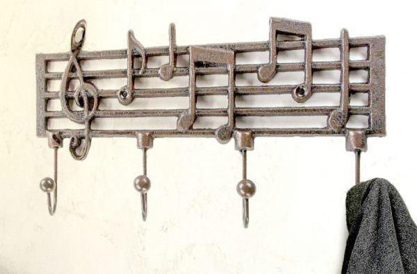 müzik temalı dekorasyon aksesuarları - nota tablolu askilik - Müzik Temalı Dekorasyon Aksesuarları
