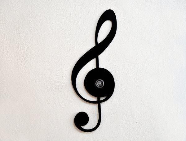 müzik temalı dekorasyon aksesuarları - semi clef wall hook musical wall - Müzik Temalı Dekorasyon Aksesuarları