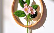 Duvarınıza Dekoratif Canlı Çiçek İçin Ahşap Vazo