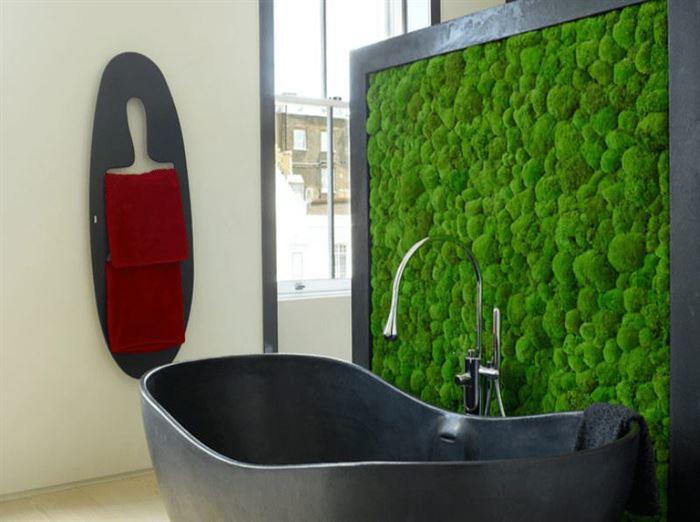 Duvarlar İçin Dikey Yeşillik Peysajı duvarlar İçin dikey yeşillik peysajı - banyo duvar bitki dekoru 1 - Duvarlar İçin Dikey Yeşillik Peysajı