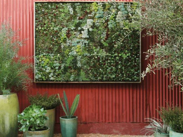 duvar süsleme yeşil bitkiler