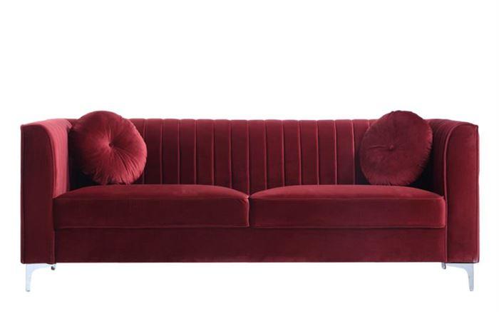 kırmızı kadife kumaş kadife kumaş kaplı Üçlü kanepe modelleri