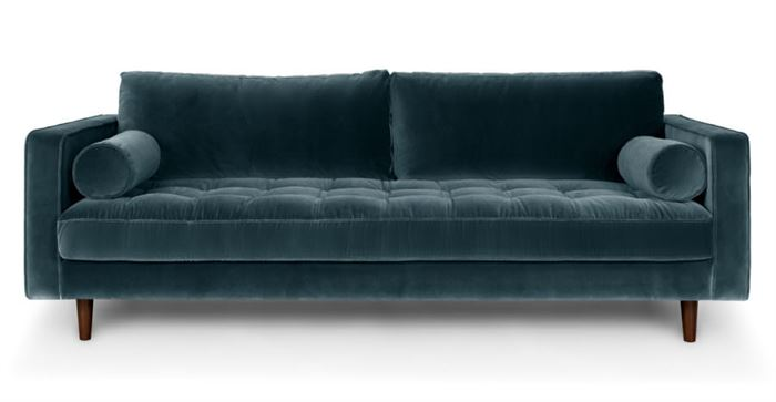 kadife kapılı koltuk kadife kumaş kaplı Üçlü kanepe modelleri