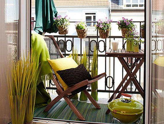 küçük balkon dekorasyon