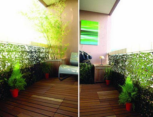 balkon yeşillik küçük balkonlar İçin güzel dekorasyon fikirleri - kucuk balkon guzel dekorasyon fikirleri 9 523x400 - Küçük Balkonlar İçin Güzel Dekorasyon Fikirleri