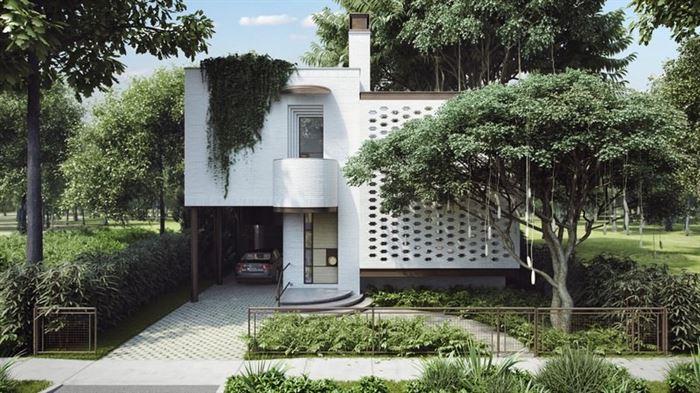 modern-luks-villa-bahce-peysaji modern lüks evlerin dış mimari tasarımları