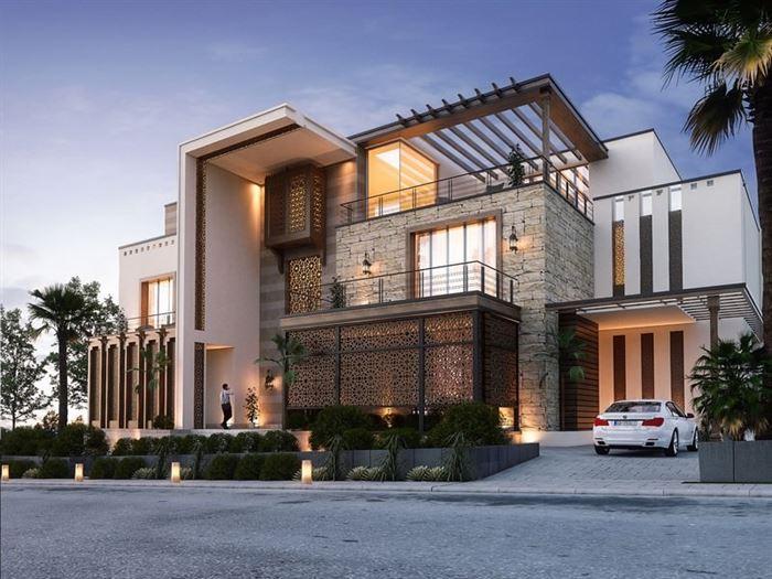 modern-villa-dekorasyonu modern lüks evlerin dış mimari tasarımları