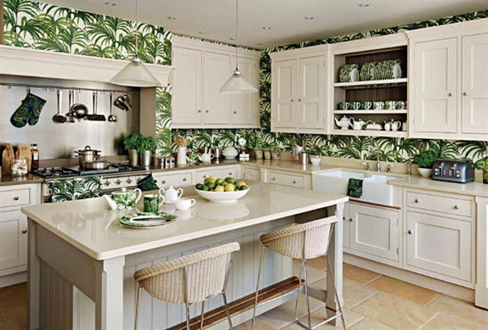 mutfak duvar kağıt desenleri