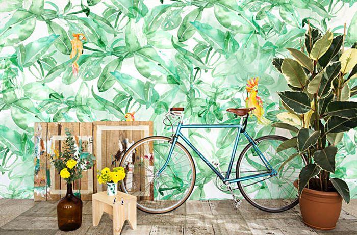 yeşil duvar kağıt modelleri