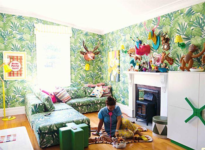 tropikal desenli duvar kağıt desenleri