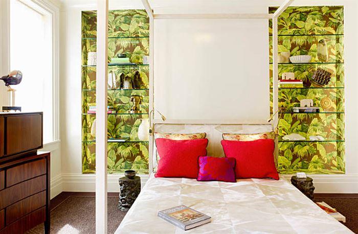 tropikal dekorasyonlu yatak odası