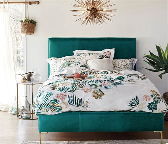 tropikal desenli yatak çarşafı