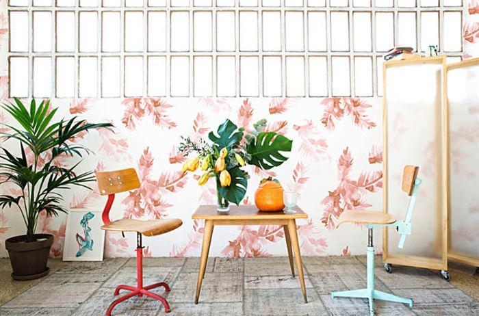 tropikal desenli duvar kağıt modelleri
