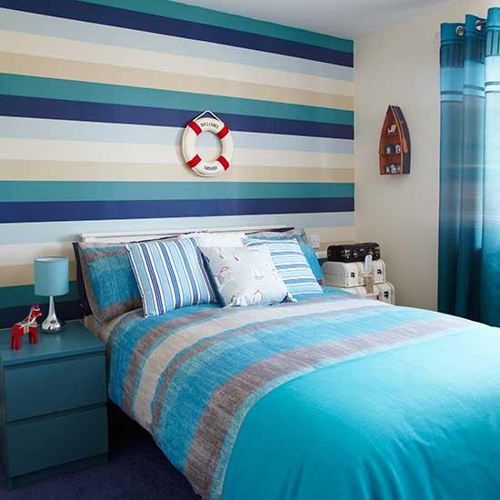 çocuk odası renkli duvar kağıt modelleri