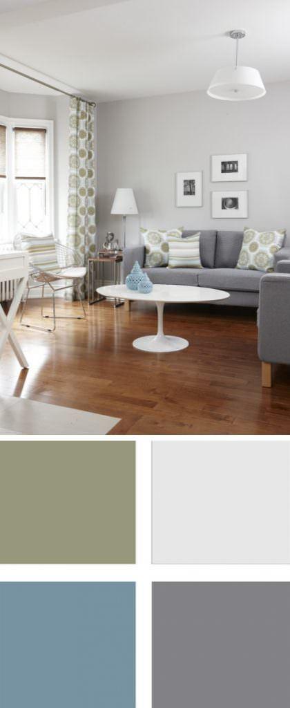İki Ve Üç Renk Kombinasyonu İle Oda Dekorasyonları 2