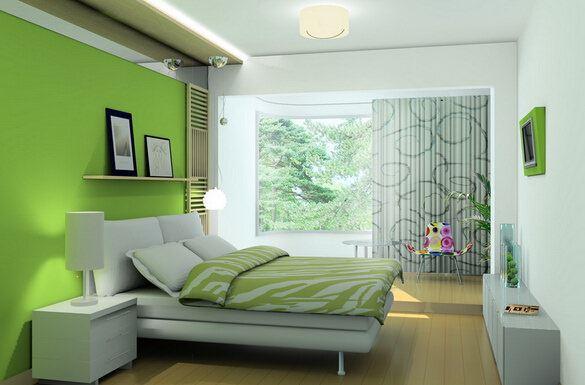 İki Ve Üç Renk Kombinasyonu İle Oda Dekorasyonları 3