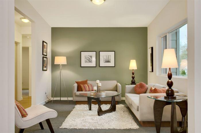 İki Ve Üç Renk Kombinasyonu İle Oda Dekorasyonları 7