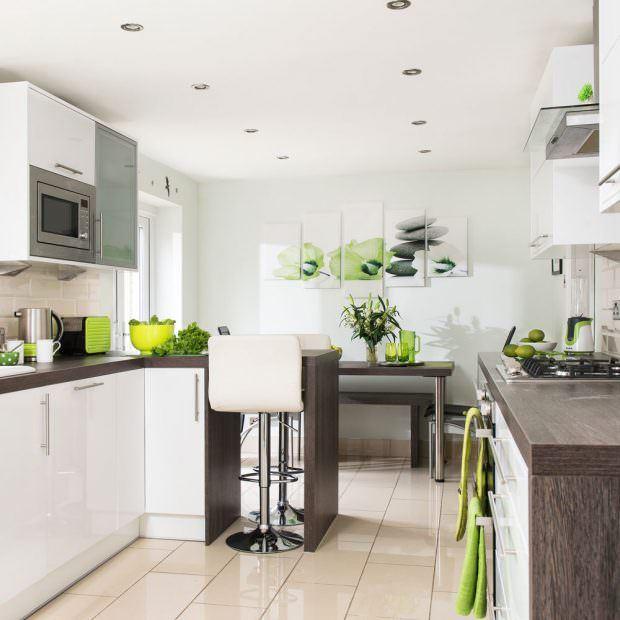 beyaz ve wenge mutfak dolap modelleri