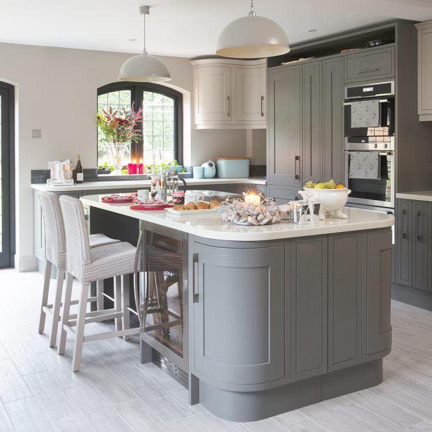oval tasarımlı mutfak modelleri