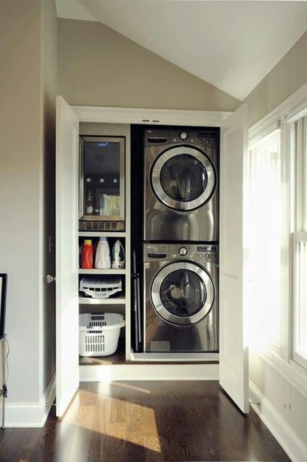 özel ölçü çamaşır makinesi dolap modelleri