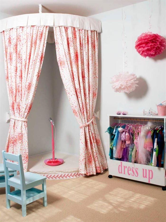 Çocuğunuzun odası için eğlenceli dekorasyon fikirleri - cocuk odasi icin giyinme bolumu