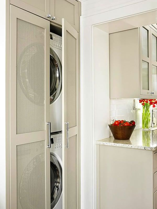 çamaşır makinesi dolap