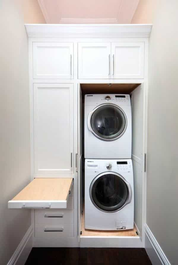 mutfakta çamaşır makinesi