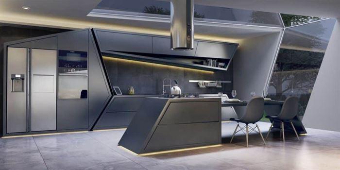 modern mutfak aydınlatma