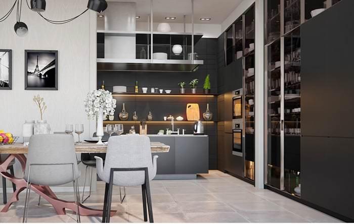 Müthiş Modern Mutfak Aydınlatma Örnekleri 13