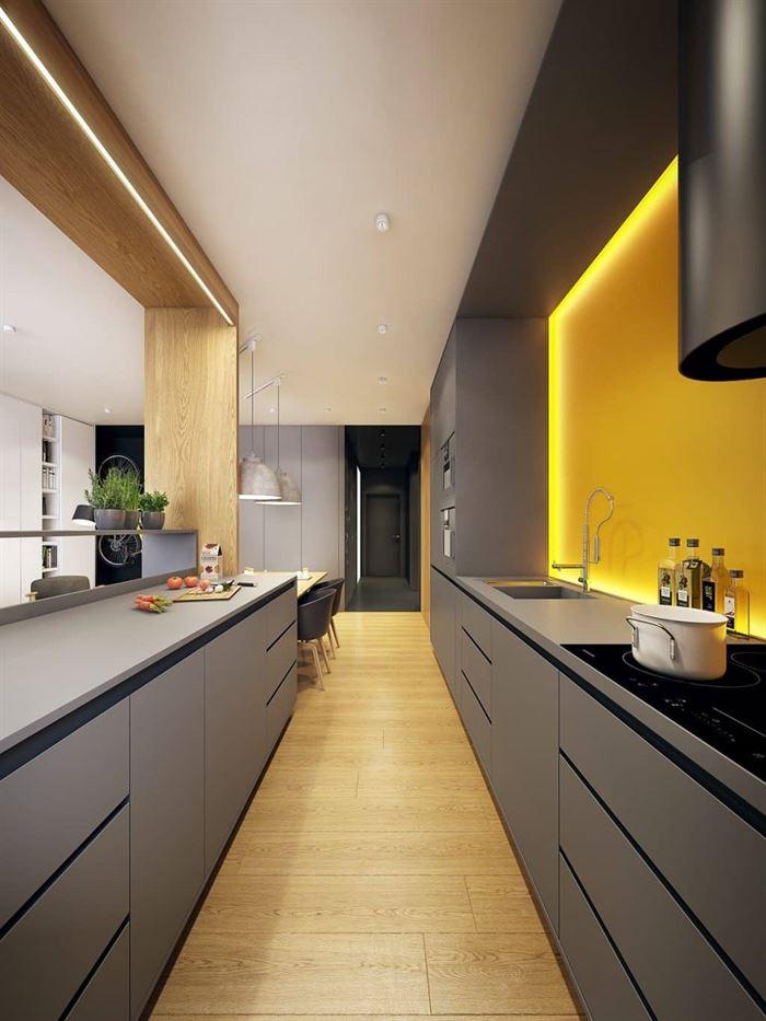 Müthiş Modern Mutfak Aydınlatma Örnekleri 18